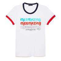 Camiseta Mermaid Com Ribana Feminina - Tam: PP / Cor: BRANCO
