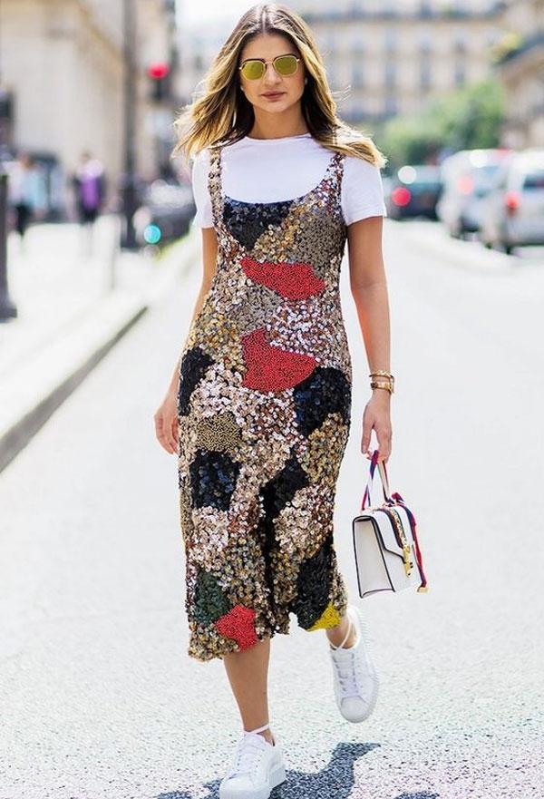 Thássia Naves - Vestido Paetês - brilho - verão - street style