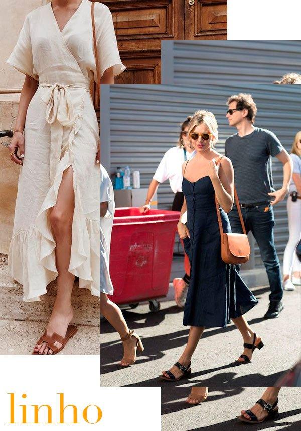 Sienna Miller - linho - linho - verão - street-style