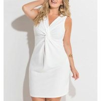 Vestido Off White Plus Size