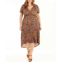Vestido Quintess Animal Print com Barra Mullet