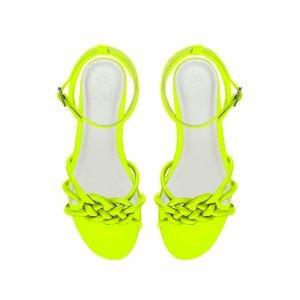 Rasteira Fefa Neon Limão Tamanho: 41 - Cor: Verde