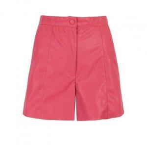 Shorts Leather Cintura Alta