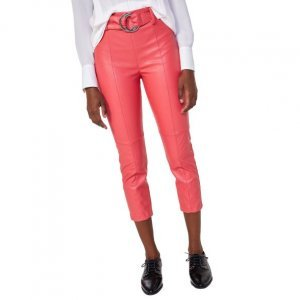 Calça Cropped Leather Fashion