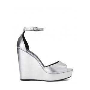 Sandália Plataforma Metalizada