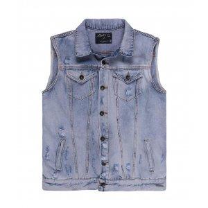 Colete Feminino Jeans Losango