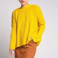 Blusa Ampla Gola Tricot Amarela