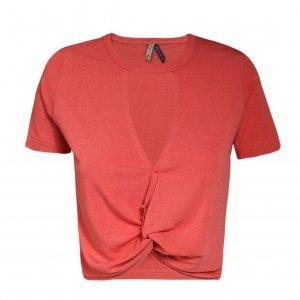 Blusa Feminina Cropped Com Nó Frente
