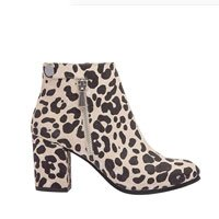 PIC/PAY BRIT | Suede Mid Height Block Heel Zipper Fashion Ankle Bootie Comfortable Padded Arch Support Boot (New Fall)