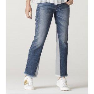 Calça Jeans Feminina Slim Com Recorte