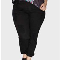 Calça Skinny Puídos Plus Size