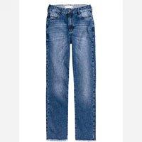 Calça Jeans Na Base Mom Com Barra Desfiada