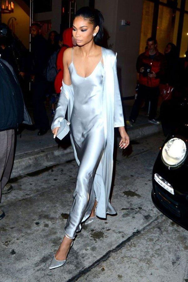 Chanel Iman - Vestido de festa - Minimalismo - verão - street style