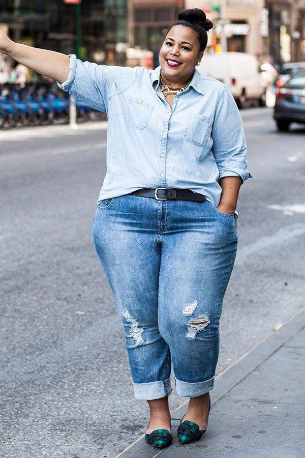 Chastity Garner - calça jeans - jeans no office look - meia-estação - street style