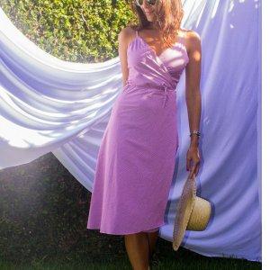 Wrap Dress Xadrez Tamanho: M - Cor: Lilás