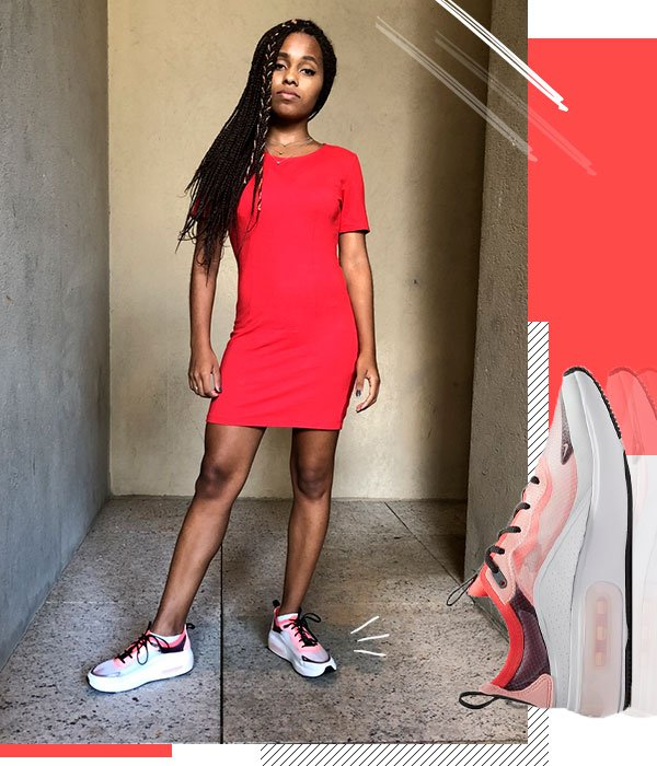 Claudiana Ribeiro - vestido-vermelho-air-max-dia - air max dia - verão - street style 2019
