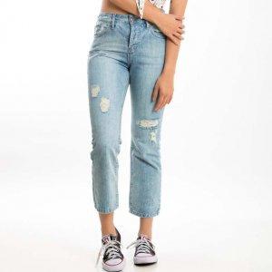 Calça Jeans Mom Lavagem Clara Tamanho:  36 - Cor:  Azul
