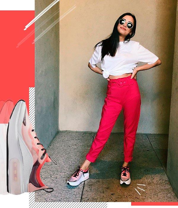 Giovana Marçon - t-shirt-calça-rosa-air-max-dia - air max dia - verão - street style 2019