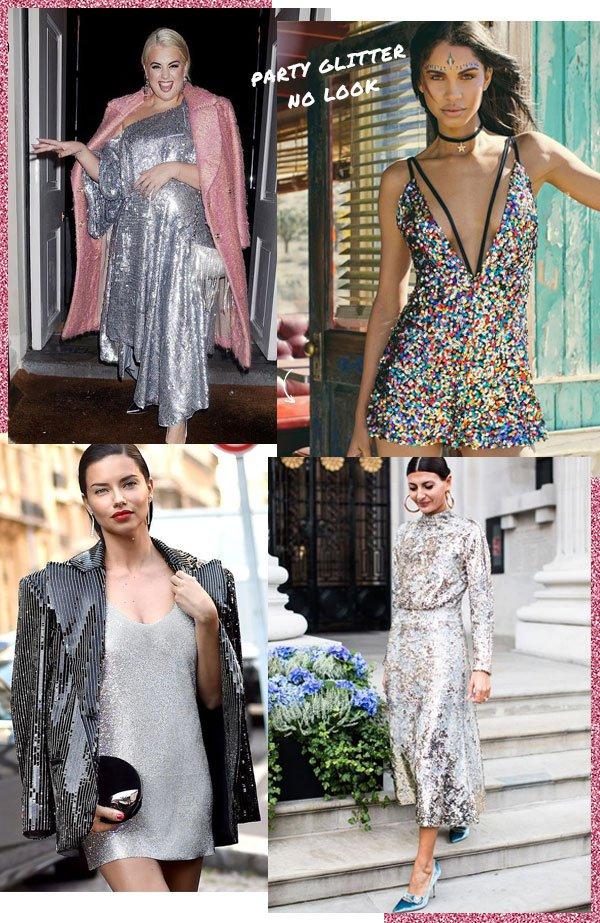 Felicity Hayward, Adriana Lima, Giovanna Battaglia - paetê - brilho - verão - street-style