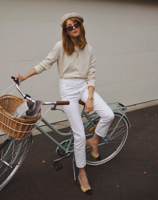 Jessica Alizzi - blusa-calça-all-white-scarpin - all-white - meia estação - office look