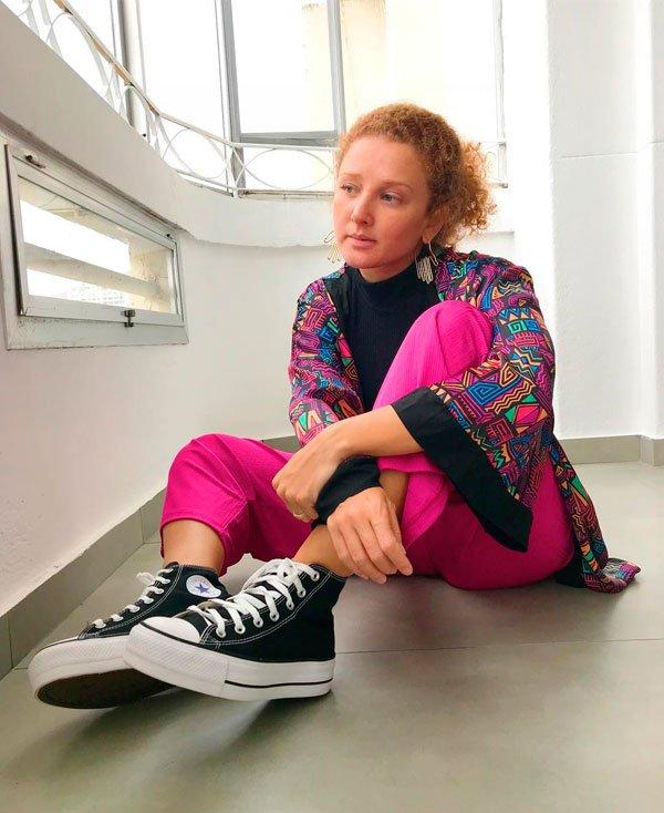 f7407c1e16c Julia Hirszman - tênis-plataforma - tênis-plataforma - verão - street style  2019