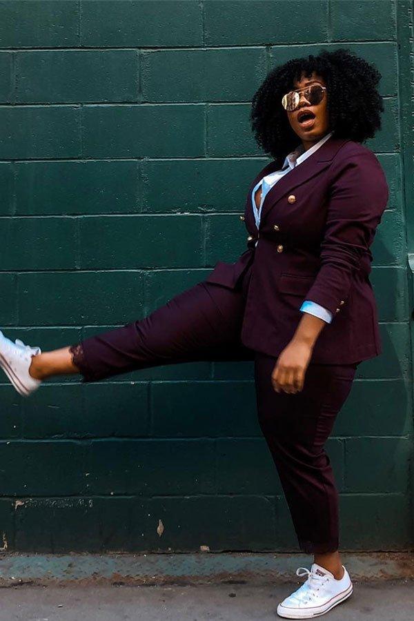 Kelly Augustine - Terninho alfaiataria - alfaataria com tênis - meia-estação - street style