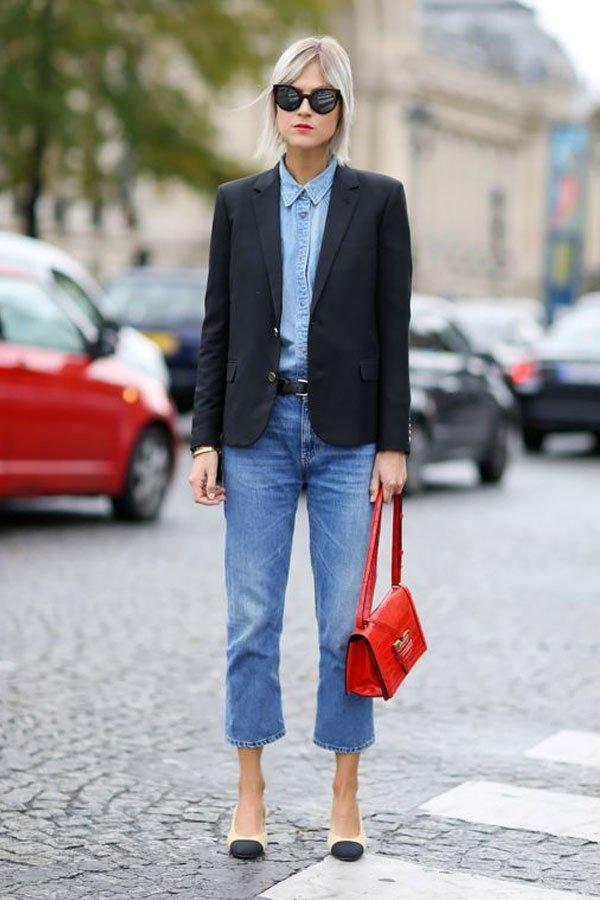 Linda Tol - calça jeans com blazer - jeans no office look - meia-estação - street style