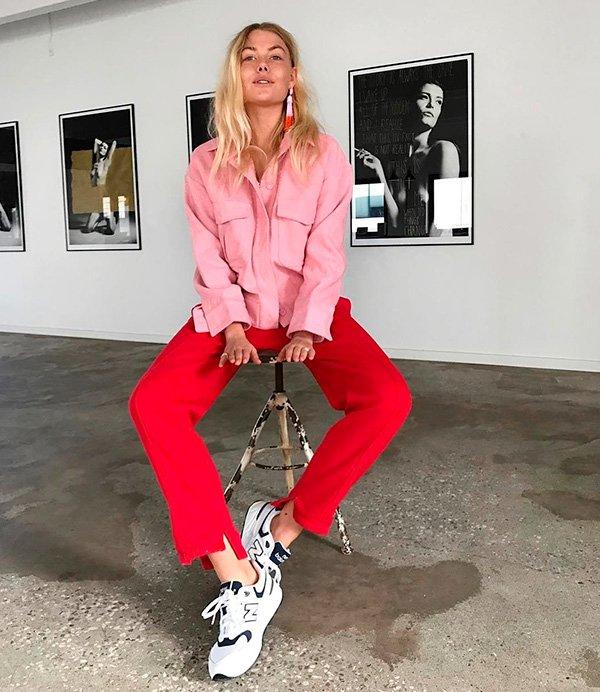 look - FREJA WEWER - rosa - vermelho - trend
