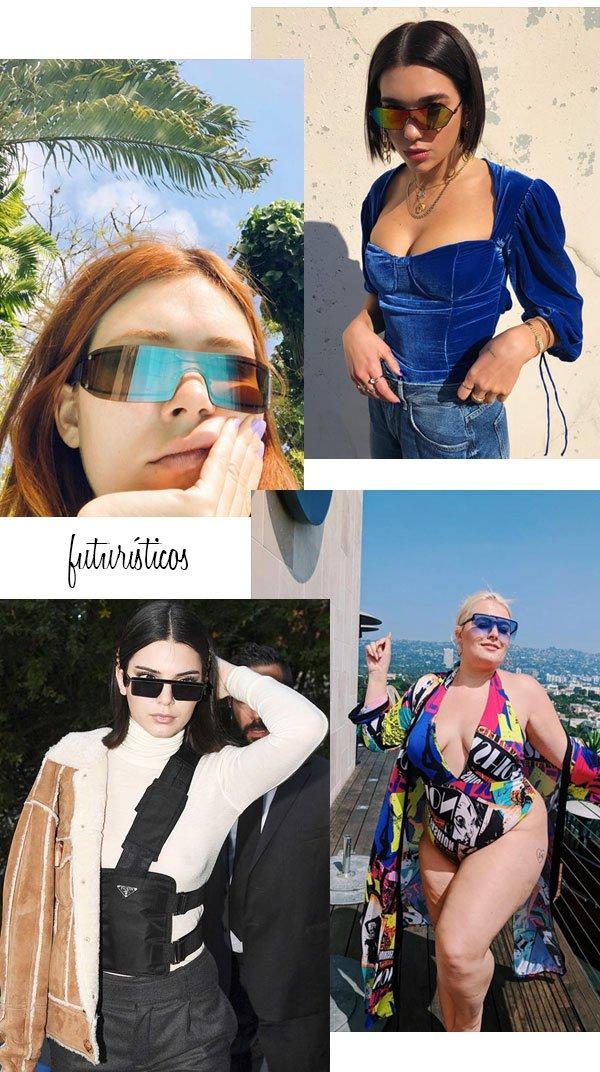it-girls - óculos de sol - óculos futurísticos - verão - street style 2019 a8eb4743be