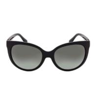 Óculos de Sol Grazi Massafera GZ4019 E819 Preto Com Cristais Da SWAROVSKI Lente Cinza Degradê Tam 56