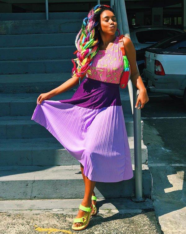Paloma Barbiezinha - flat-neon - neon - verão - street style 2019