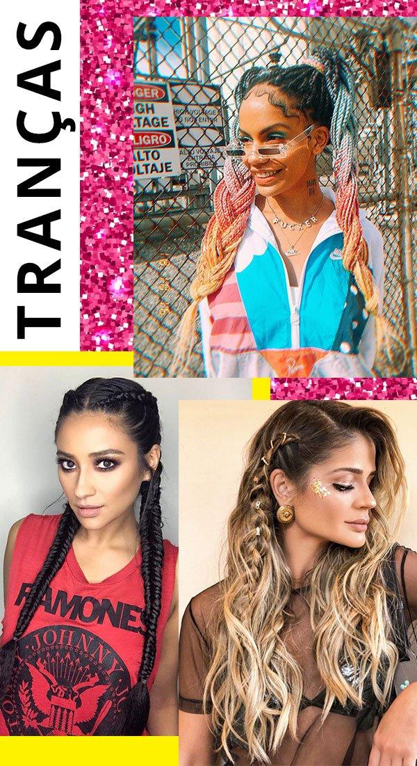 Maga Moura, Shay Mitchell, Thassia Naves - tranças - carnaval - verão - Carnaval