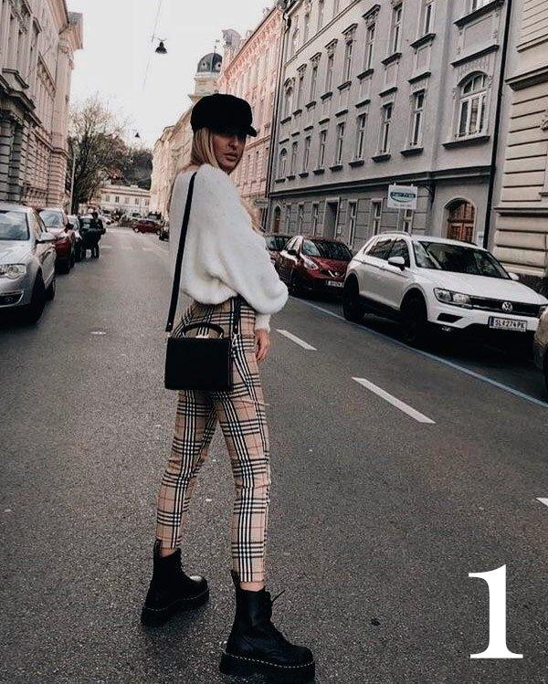 it-girl - calça-xadrez - xadrez - inverno - street-style