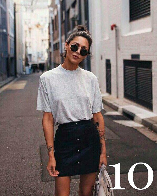 it-girl - saia-botão - botões - verão - street-style