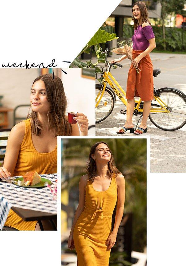 modelo - amarelo - amarelo - verão - street-style