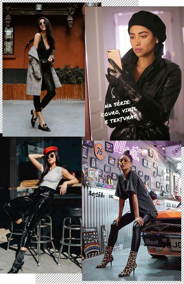 Shay Mitchell - couro - couro - verão - street-style