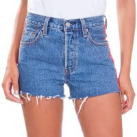 Shorts Jeans Levis Feminino 501 High Rise Azul Médio