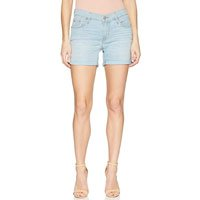 Shorts Jeans Levis Feminino Mid Length Update Azul Claro