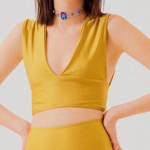 Top Anna Mostarda Tamanho: 40 - Cor: Amarelo