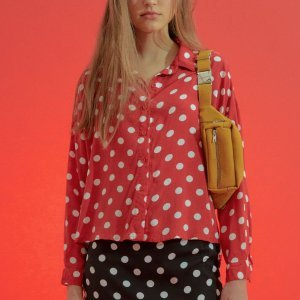 Blusa Amanda Vermelha Poá Tamanho: 38 - Cor: Vermelho