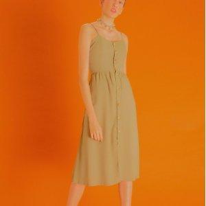 Vestido Rae Verde Oliva Tamanho: 42 - Cor: Verde
