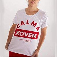 T SHIRT SILK CALMA XOVEM BRANCO