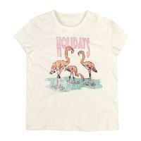 T-Shirt Em Malha Com Estampa Localizada E Corte A Fio