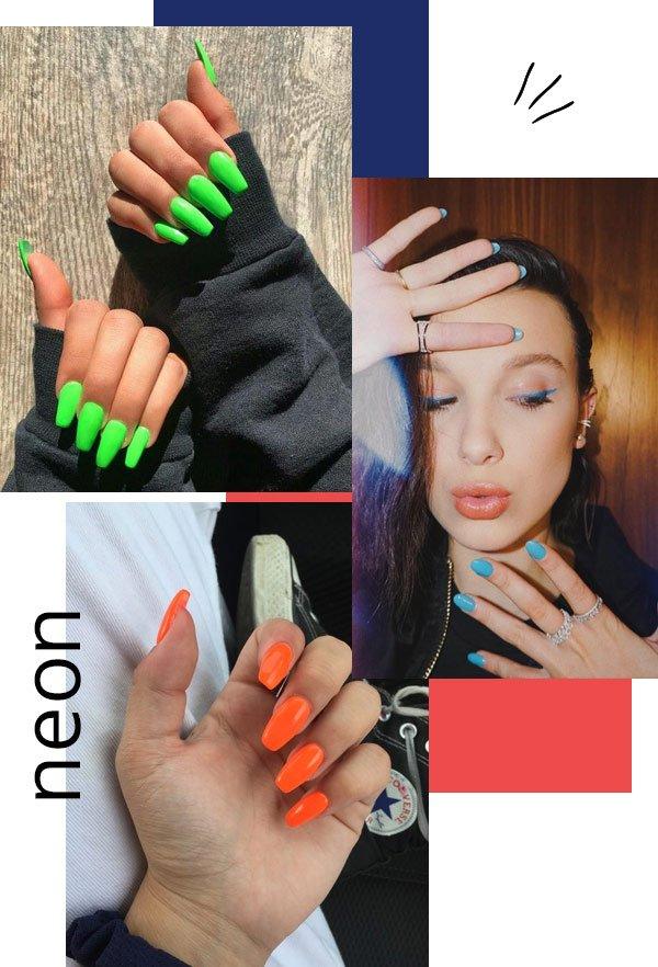 Millie Bobby Brown - unhas-coloridas - unhas - verão - street style 2019