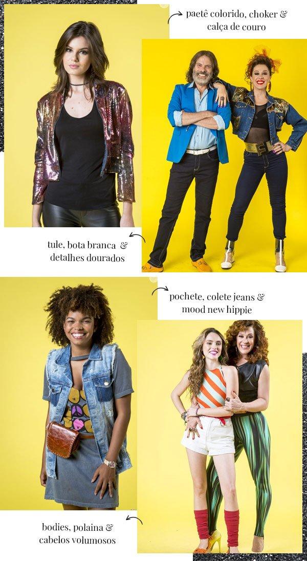 Camila Queiroz, Claudia Raia, Isabelle Drummond e Jeniffer Nascimento - anos 90 - anos 90 - verão 90 - globo