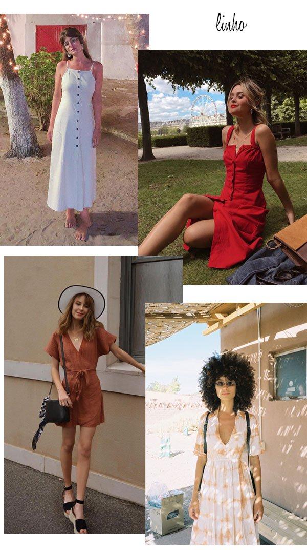 it-girls - vestido - linho - verão - street style 2019
