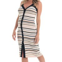 Vestido Amamentação Tricot Cláudia – Listras