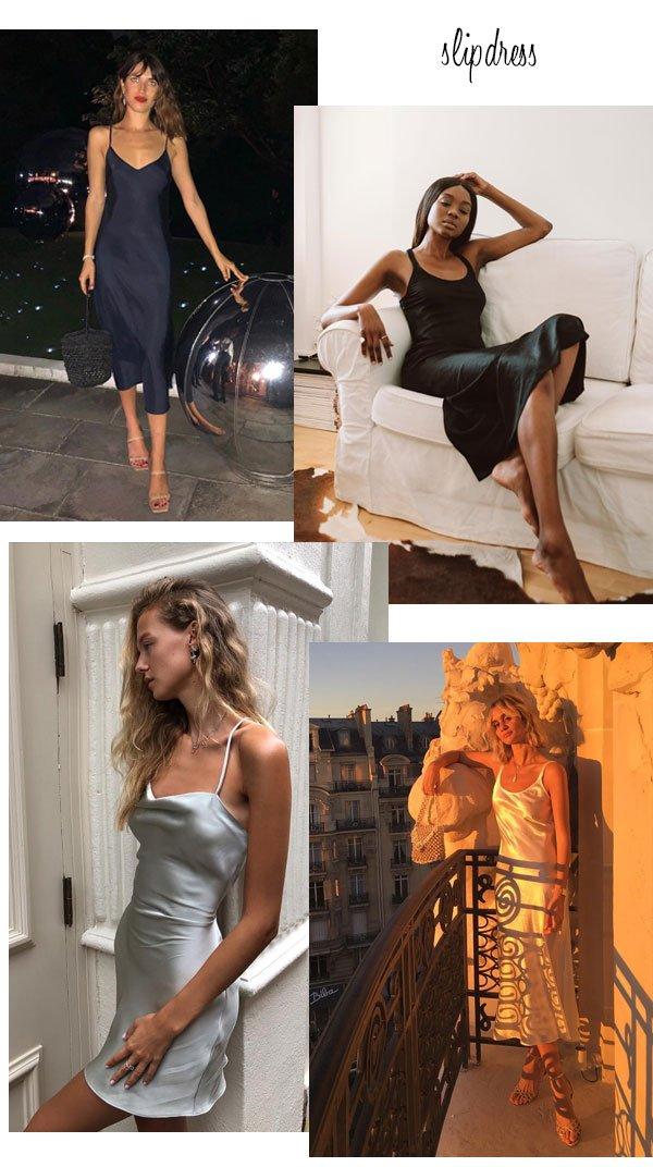 it-girls - vestido - slipdress - verão - street style 2019