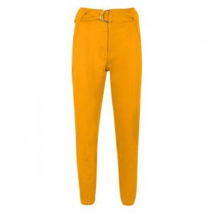 Slim Cotton Twill Pants With Belt