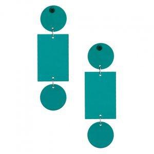 Brinco Acrílico Geométrico